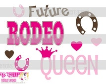 """DIY Printable """"Future Rodeo Queen"""" Iron On Transfer (PNG Digital Image)"""