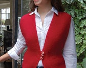 Three Button Vest to Knit PDF Pattern Instant Download