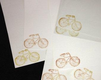 Vintage bike/bicycle letter writing set