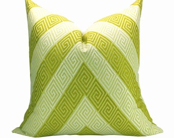 Nebaha Embroidery pillow cover in Citron