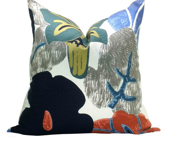 Twenties pillow cover in azul - Gaston y daniela cortinas ...