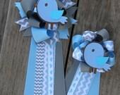 baby shower corsage Set of 2  -baby shower mumbaby shower bird-bird shower