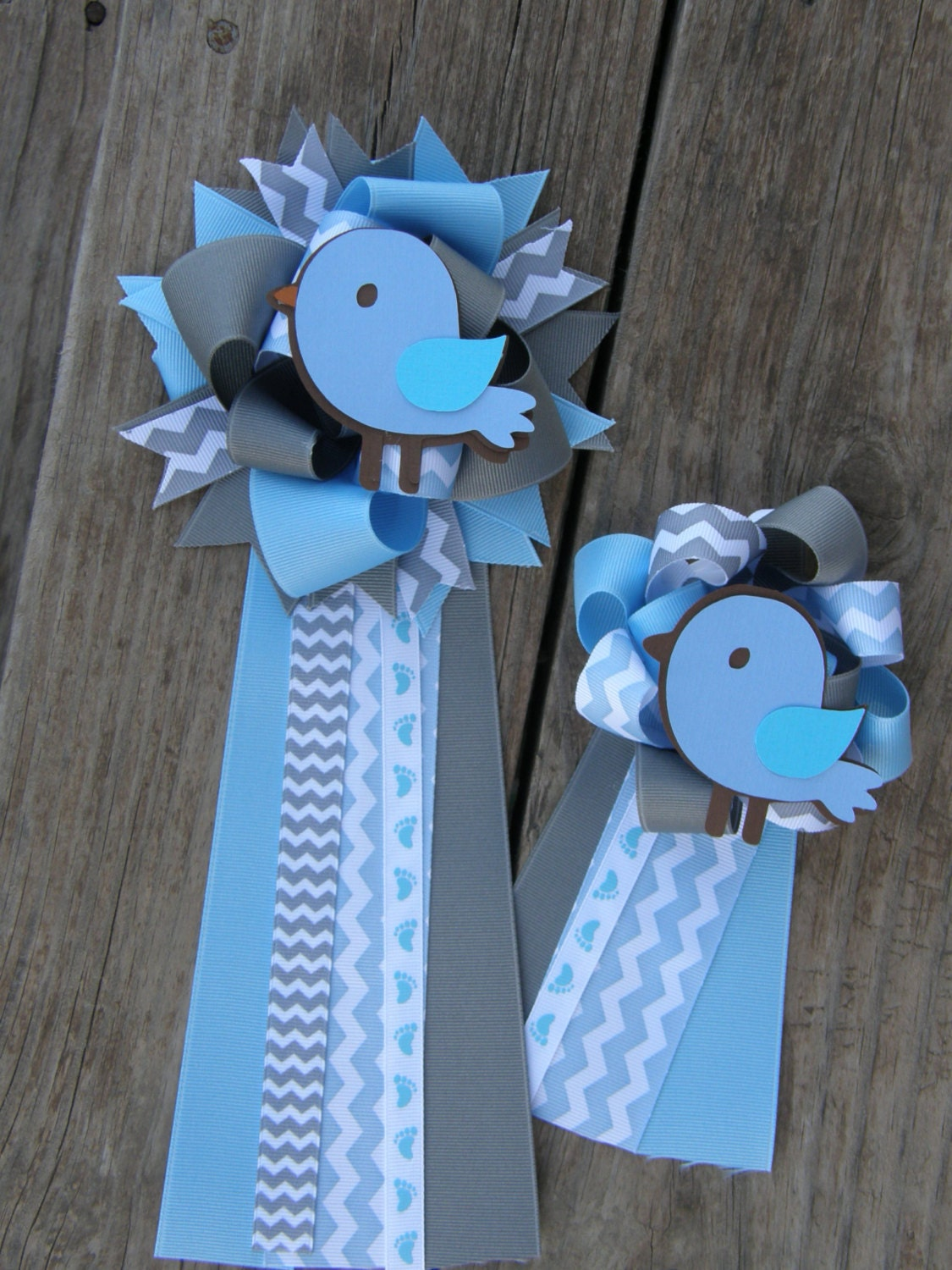 baby shower corsage set of 2 baby shower mumbaby shower by bonbow