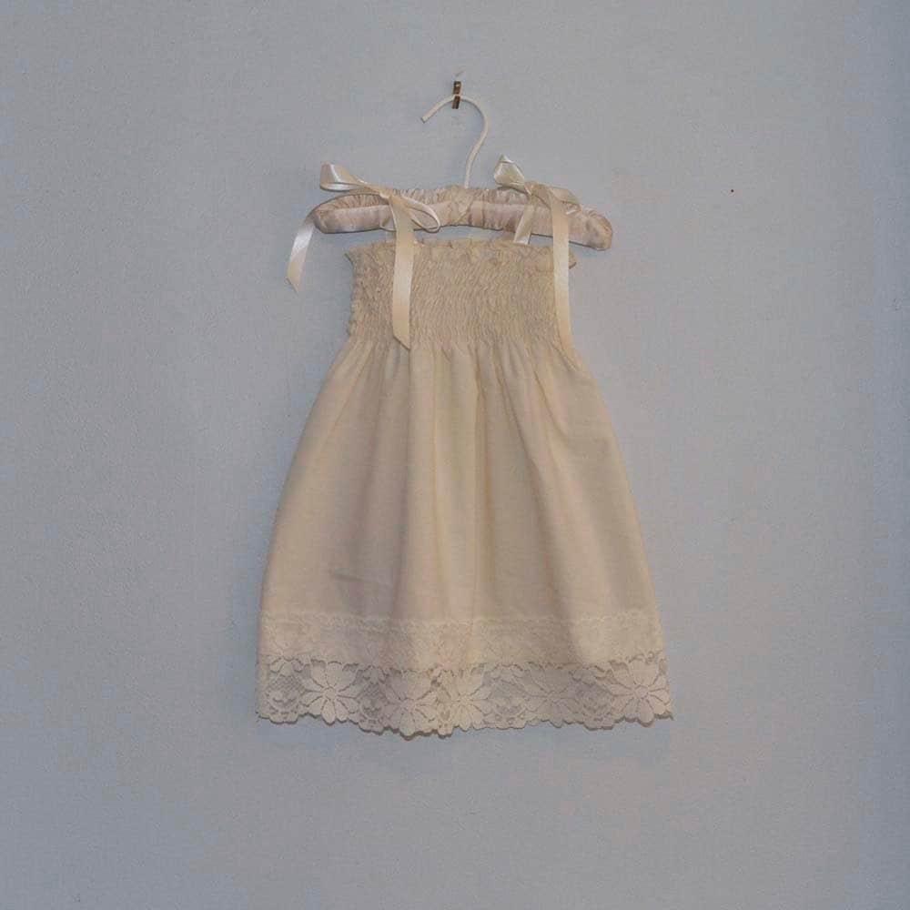 Rustic Lace Flower Girl Dress...Rustic Wedding... Cream Ivory