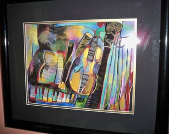 "Very Nice ""INSTRUMENTS III"" Lithograph signed by Joanna Tyka"