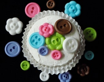 Fondant Buttons - your choice of colors - Perfect for Weddings, Baby Showers, First Birthdays or even Tea Parties for cakes and cupcakes