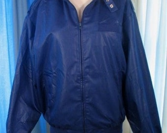Vintage 80s King Louie jacket pro fit navy jacket with epaulets L 44-46 nos nwt new Members Only Style