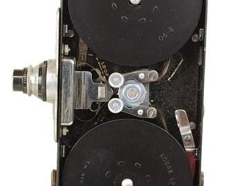 Vintage 1950s Keystone A7 16mm Movie Film Camera, Works, with Case