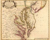 1719 Map of Chesapeake Bay