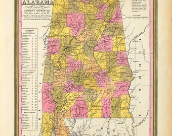 1846 Map of Alabama
