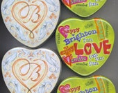 Brighton Heart Tins Cans Jewelry Containers Lot 6 Medium Size