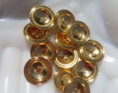 Gold Metal Buttons 4 Hole Set of 46