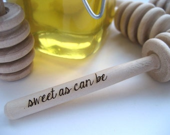 Baby Shower Set of 25 Sweet as Can Be Engraved Honey Dipper Custom Baby Shower Favor