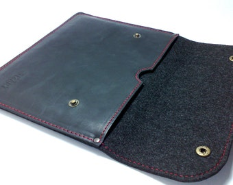 Perfect case for IPad AIR Bag for iPad Sleeve for ipad Air Cover IPAD air holder genuine leather free INITIALS