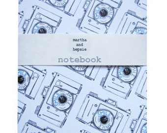 Camera Notebook - photographers gift - camera gift - blank notebook - gifts for him - vintage camera - notebook for men - notebook