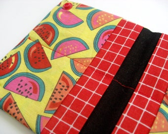 CLEARANCE - Credit card organizer - 8 pockets - Business card holder - Watermelons - Ready to ship