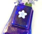 Royal Blue Fused Glass Magnet Vase LI 308