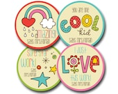 CUTE and COLOURFUL Personalized stickers for Teachers