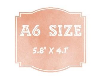 "Turn any A4 print into an A6 print (5.8"" x 4.1"")"