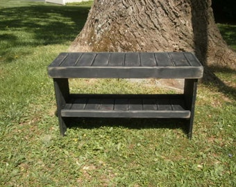 """wooden bench 48"""" entry bench/hallway bench/coffee table/benches/wooden benches/bench/benches/hallway bench/reclaimed"""