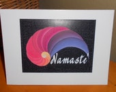 NAMASTI spiritual blessing greeting card