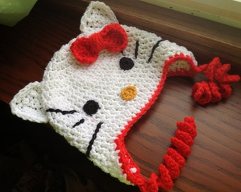 Made to Order Hello Kitty Inspired Hat