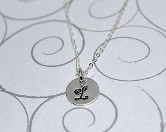Personalized Charm Necklace Hand Stamped Sterling Silver perfect for children