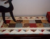 Quilted Table Runner in Rustic Colors