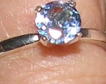 Tanzanite Solitaire Ring