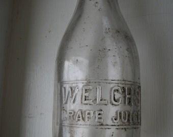 Vintage bottle, juice bottle, Welch's