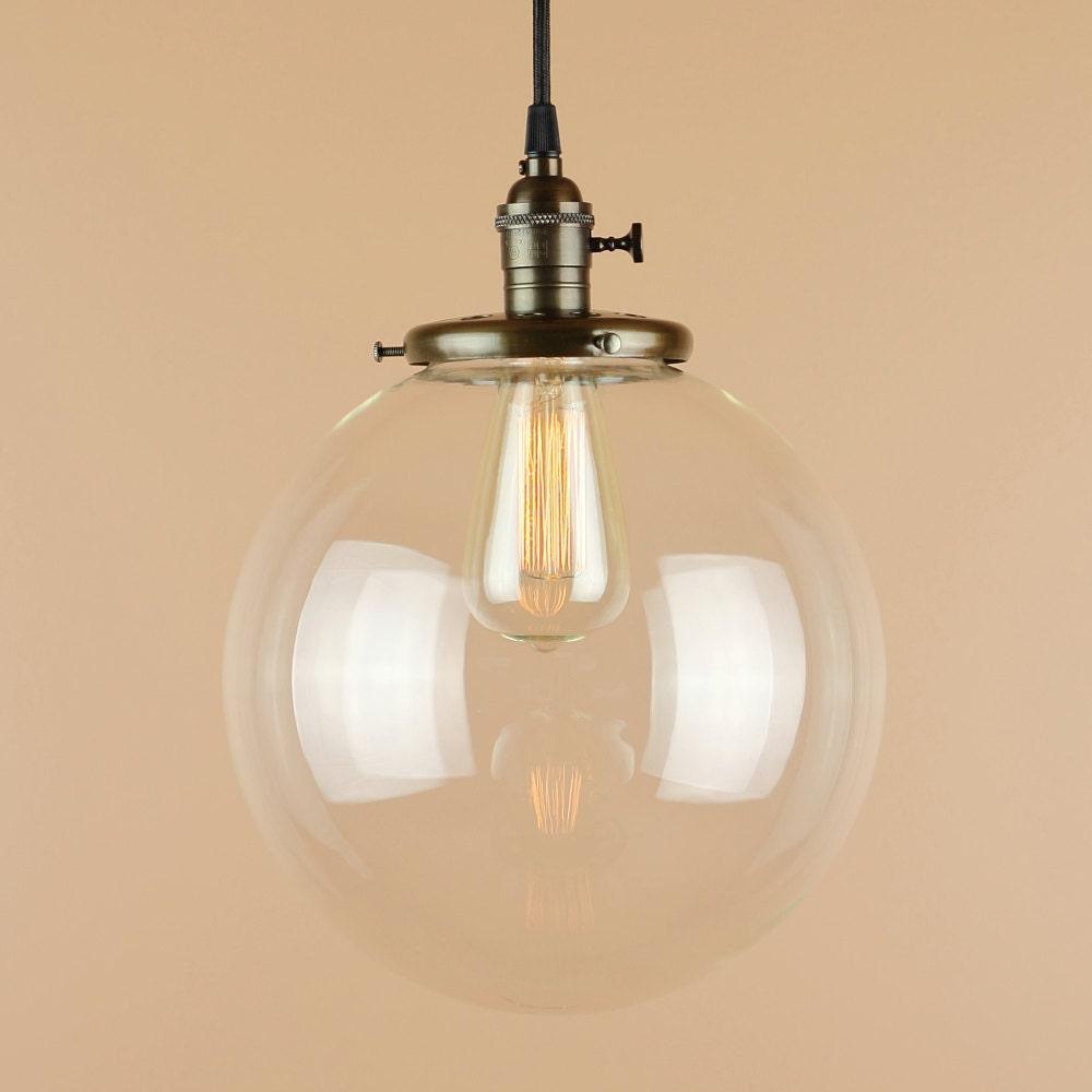 Pendant Light Lighting W Xlarge 10 Inch Clear Glass Globe