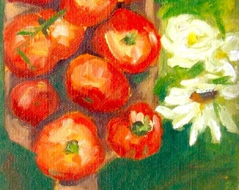 Tomatoes • The Cutting Board • Original Art • Oil Paintings • Daily Painters • Daily Painting