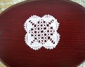 miniature lace doily 1 inch scale