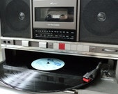 Retro Panasonic Boombox with Turntable - Tape Deck - Radio - Fully Working - Sounds Great