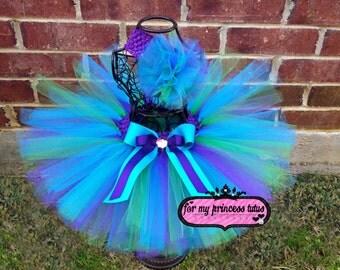 Mermaid Tutu & Headband - newborn tutu, infant tutu, baby tutu, dress up tutu, pageant tutu, 1st birthday tutu, princess tutu, diva tutu