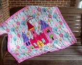 Princess Evelyn's Castle Quilt Pattern, Fast and Fun Beginner Quilt Pattern