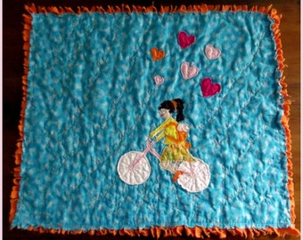 "Applique Mini Quilt Pattern, ""Rebecca and Jake"""
