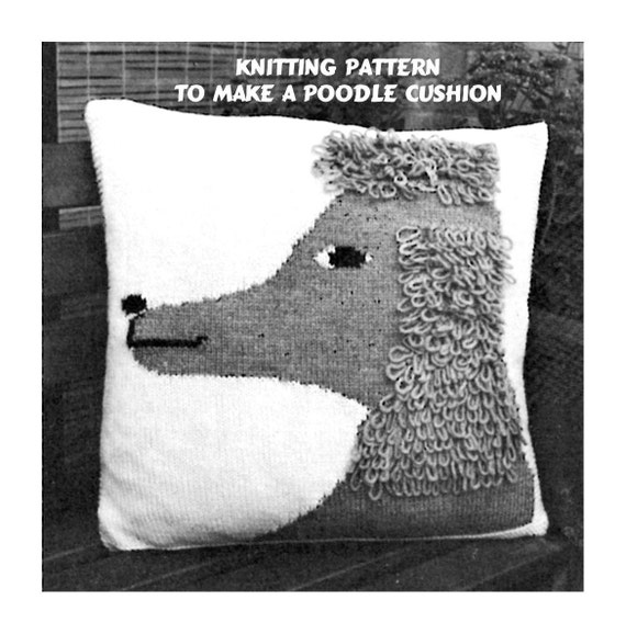 Instant Download PDF Knitting pattern to make a Poodle Dog