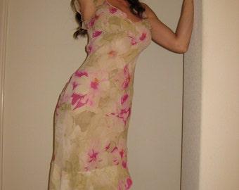 90's Victoria's Secret Silk Chiffon Summer Dress Size 4