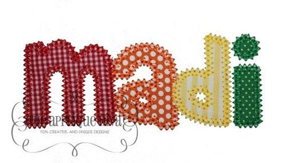 madison font embroidery design machine applique letters