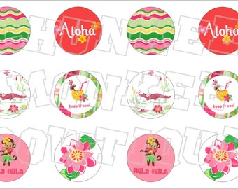 Made to Match Gymboree M2MG Island Lily bottlecap image sheet