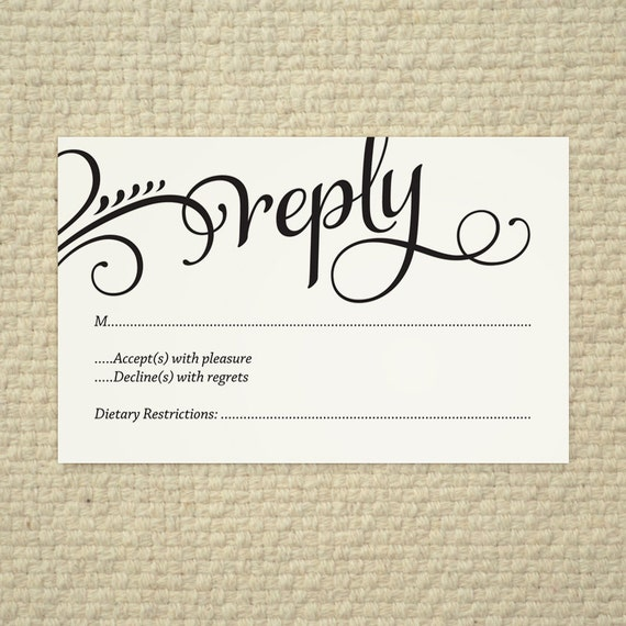 Hitched love and cherish script diy by amyadamsprintables for Free rsvp template