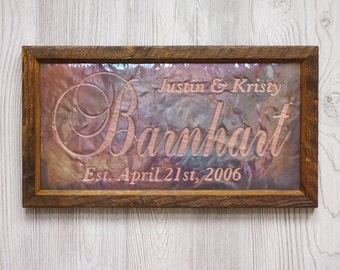 7th anniversary gift for him 7th anniversary gift personalized wedding sign unique wedding