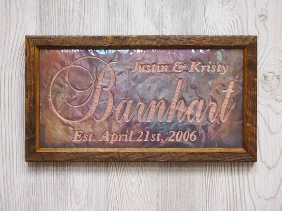7th Anniversary gift for him, 7th Anniversary gift, Personalized Wedding Sign, Unique Wedding Gift for couple, Personalized Wedding sign
