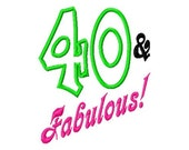 Fabulous and 20-90 - Applique Number Set - Machine Embroidery Design - 6 Sizes