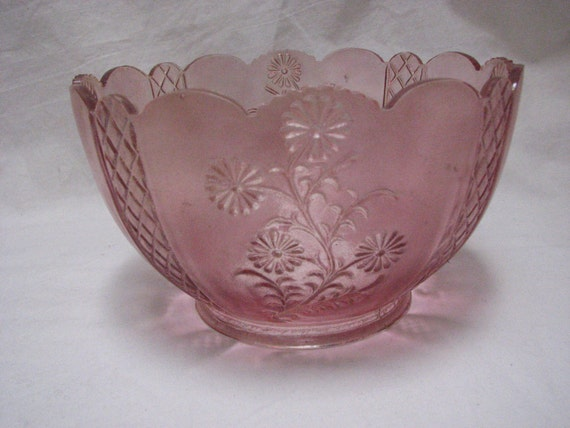 Victorian Antique Pink Glass Lamp Shade