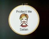 Strangers With Candy Cross Stitch Pattern - Jerri Blank - Protect Me Satan