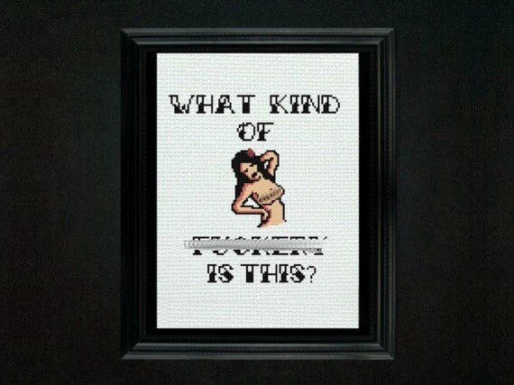 What Kind of F&ckery is This - Cross Stitch Pattern - Amy Winehouse