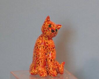 Artful Cats - Original polymer clay sculpture