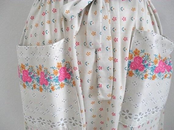 Vintage, 1940s, boho, festival, summer, shirtwaister, Dress, English, Goodwood,